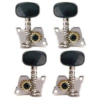Wholesale High Quality Die Cast R2L Ukulele Machine Heads Black Plastic Buttons Tuning Peg Keys Guitar Tuners Shaft mm