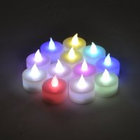 Wholesale 24pcs Flameless Candles Flickering LED Tea Light Battery Operated Tealights Christmas Wedding Party Festival Grarden Decor
