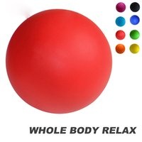 Wholesale Rubber Crossfit Massage Ball Pain stress relief Trigger Point Therapy for Muscle Knot Fitness Yoga Lacrosse Balls Hockey Ball s1159