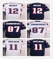 Wholesale 2016 Drop Shipping Patriots Mens Football Jerseys Brady Gronkowski Collins Elite Football Jerseys Embroidery Name and Logos