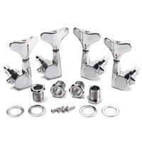 Wholesale 2R2L Chrome Machine Heads Tuning Pegs High Quality Guitar Bass Tuning Pegs keys Sealed Guitar Parts Accessories