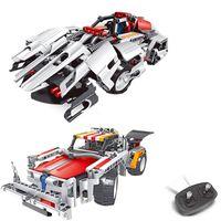 auto unions - 2016 Kids Toys RC Trucks Anime Robot Transformer Auto Bricks Union Building Blocks Sets Children toys For Gift Items One Piece
