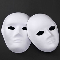 Wholesale Unpainted Blank Face Masquerade Mask Women Men Cosplay Costume Accessories DIY Masks Decor