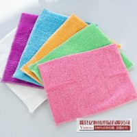 Wholesale 2016 Factory Direct Durable Wear Fast Absorbing Green Blue White Towel Natural Bamboo Fiber Dish Towel Nonstick Oil Absorbent Cloth HY1226