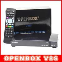 Wholesale DHL Original Openbox V8S Satellite Receiver S V8 SV8 Support WEBTV Biss Key x USB Slot USB Wifi G Youtube Youporn CCCAMD NEWCAMD10pcs