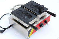 Wholesale Commercial Use Non stick Electric Single Ice Cream Taiyaki Fish Waffle Machine open mounth fish type