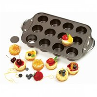 Wholesale Carbon Steel Bakeware Tray Muffin Round Non Stick Tins Cups Pan Baking Cake Mould Kitchen Cooking Tools