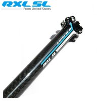 Wholesale RXL SL Full Carbon Fiber Bicycle Seatpost MTB Road Bicycle Seatpost Seat tube Seat Bicycle Parts Blue