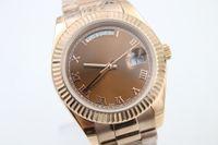 daydate - High quality Rose golden mens new arrivel Automatic Mechanical Wrist Watch mm gift daydate