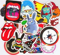 Wholesale 50 Car Stickers Home Funny Jdm Skateboard Motorcycle Laptop Stickers Car covers DIY Vinyl Decal Bomb styling Sticker