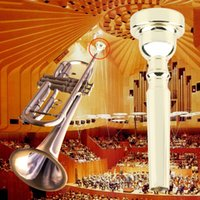 Wholesale Professional Trumpet Mouthpiece for Bach C Size Gold Plated Silver Plated Free Shupping