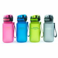 2016 La bouteille d'eau préférée de mes enfants en plastique (350ml) BPA LIBRE La tasse portative avec le couvercle de capuchon de renvoi pour des enfants École Sports