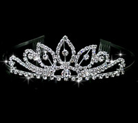 Wholesale Wedding Party Prom Pageant Quinceanera Birthday Crystal Rhinestone Tiara and Crown for Brides Girls Children Lady Women YW389