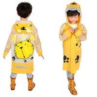 Wholesale best kids pvc raincoat cute Raincoats Baby Children Kids Cartoon cat beetle SpongeBob Rain Coat Rainwear Hooded Raincoat Outwear Rainsuit