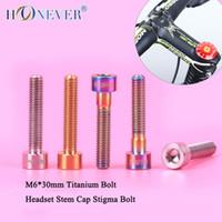 Wholesale M6 mm Titanium Bolt For Bicycle Colors Column Headset Stem Cap Bolt Bike Screw Bicycle Parts