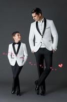 Wholesale new wedding suits for Boys Suit shawl lapel boys mens suits two piece Boy s Formal Wear slim fit two button jacket pants tie a001