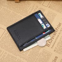 Wholesale Hot Sale Genuine Leather Credit Card Bank Cards Holder Men Wallet Id Holders Business Sim Coin Purse High Quality