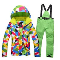 Wholesale new Ski Snowboard Suit Waterproof Windproof Womens Snow Wear Winter Jacket High Quality Jacket Pants Female