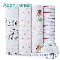 Wholesale 120 cm Cotton flog monkey goldfish Baby Muslin Swaddle Blanket Newborn Baby Bath Towel Ins Animal Baby Parisarc wrap blankets free c0028