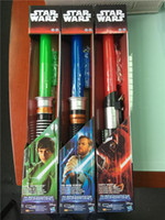Wholesale 60pcs hot fashion colors star wars laser sword lightsabers attachable laser lightsabers LED toy star wars cosplay