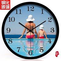 bath wall clock - A large gym swimming pool leisure bath hotel decoration art wall clock watch