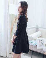 Wholesale V classic temperament Hepburn Halter collar new thin autumn wind little black dress