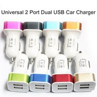 Wholesale 12V V Universal Dual Port USB Car Charger Adapter For iPhone plus s Samsung and Android devices