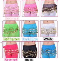 Wholesale New Rows Coins Belly Egypt Dance Hip Skirts Scarf Wrap Belt Costume High quality Stage Wear B0285