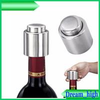 Wholesale Red Wine Bottle Stopper Stainless Steel Vacuum Sealed Bottle Spout Liquor Flow Pour Cap Champagne Stopper Beverage Closures