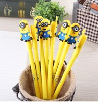 Wholesale Minions Despicable Me ballpoint pens Gel Pen set Cartoon Writing Pen Creative Stationery Children s Toy Study funny ball pen