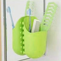 Wholesale 2015 New Kangaroo Shape Pocket Wall Bathroom Toothbrush Stick Paste Holder Sucker Organizer