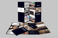 Wholesale 500pcs Custom printing Tri Fold Brochure Printing Customized tri fold brochure A4