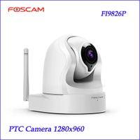 Wholesale Foscam FI9826P v2 H X Optical Zoom P Megapixel HD Pan Tilt Zoom white Surveillance Camera security PTZ Camera