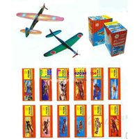 Wholesale 12 Flying Plane Gliders Polystyrene Pinata Toy Loot Party Bag Fillers Wedding