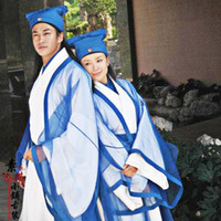 Wholesale Men and Women boy and girl tang suit hanfu lovers costume cosplay costume Chinese ancient costume whizz kid wit clothing