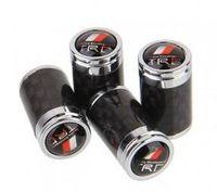 Wholesale 4pcs Car Wheel Tire Valve Caps Carbon Fiber Tire Valve Caps Replacement Trye Valve Covers for TRD
