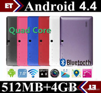 Wholesale 2015 inch Allwinner A33 Dual Core Q88 Dual Camera Android Tablet PC Q8 With WiFi MB GB GHz Dual camera