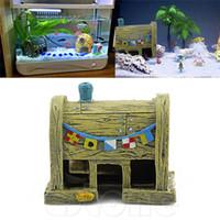 aquatic fish supplies - New Hot Sale Aquarium Supply Resin House Aquatic Animals Shrimp Cave Ornament Decoration for Fish Tank