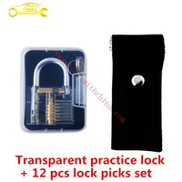 auto practice - Hot Sale Transparent Padlock Practice Series With Locksmith Tools Suit For Locksmiths