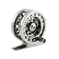 aluminum flywheel - Aluminum Alloy Super Strong Ice Fly Fishing Flywheel Tackle Reel BLD50 Brake System Silver Cheap silver lacquer
