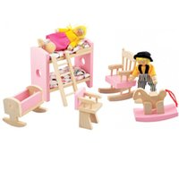 Wholesale Furniture Toys pretend play good gift for kids baby toys wooden toy kinds