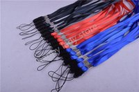 Wholesale 100pcsBlack red blue Gren long Neck Strap lanyard FOR ID CARD HOLDER badge holder length cm wide mm