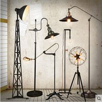 Wholesale loft country industry vintage floor Lamps with edison bulbs living room light fixtures