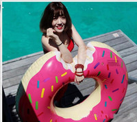 Wholesale 2016 newSwimming Pool Float Gigantic Donut Inflatable Pool Float Raft Beach Toys Gigantic Donut Pool Float Lake Toy For Adult Floats color