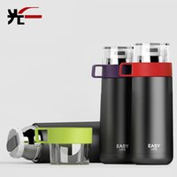 best coffee flask - Hot sale ml Thermos Cup Thermos Mug Stainless Steel Thermo Coffee Cup Insulated thermo Bottle Best Gift Vacuum Flask Cups Mug