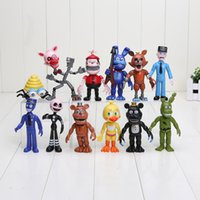 Wholesale 12pcs set FNAF Five Nights At Freddy toys PVC Action Figure Toy Foxy Gold Freddy Chica Freddy kids toys cm