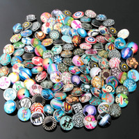Clasps & Hooks Alloy Chirstmas 50pcs lot Cute cartton Glass Diamond Noosa Interchangeable Snap Buttons DIY Jewelry Accessory Ginger Snap Jewelry Mix styles Round 18mm