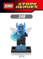 best beetles - XH Building Block Toy Avengers Super Heroes Assemble Blue Beetle Minifigure Model Building Bricks Action Children Best Toys Mini Figures