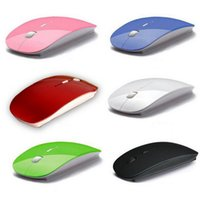 Wholesale Ultra Thin USB Optical Wireless Mouse G Receiver Super Slim Mouse For Computer PC Laptop Desktop A variety of color choices