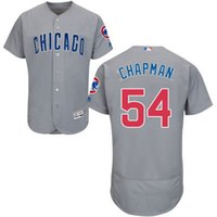 aroldis chapman - Chicago Cubs Jersey Mens Aroldis Chapman Grey Flexbase Collection Baseball Jersey Size M XL Fast Shipping Embroidery Logos
